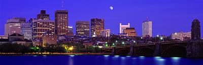 Dusk Charles River Boston Ma Usa Print by Panoramic Images