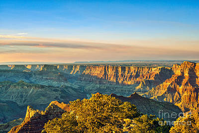 Desert Photograph - Dusk In Canyons by Tod and Cynthia Grubbs