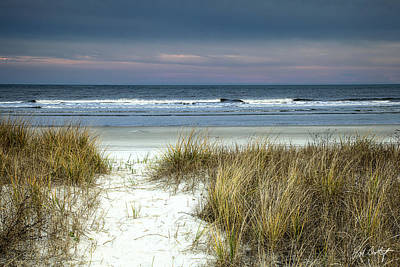 Atlantic Ocean Beach Photograph - Dusk In The Dunes by Phill Doherty