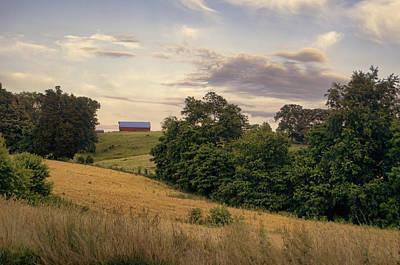 Barn Photograph - Dusk On The Farm by Heather Applegate
