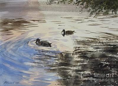 Dusky Ducks Original by Martin Howard