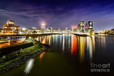 Skylines Photograph - Dusseldorf Media Harbor Skyline by Daniel Heine