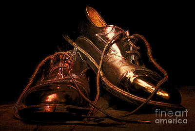 Dusty Dancing Shoes Print by Phill Petrovic