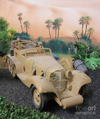 Model Kits Print featuring the photograph Dusty Old Rommel by John Malone