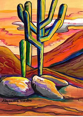 Sonoran Desert Painting - Dusty Sunset by Alexandria Winslow