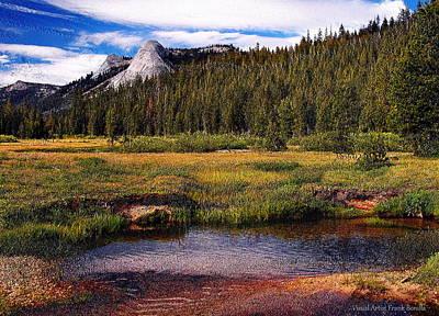 High Sierra Digital Art - Dusy Meadow  Version II by Visual Artist  Frank Bonilla