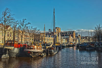 Dutch Town Of Groningen In The Netherlands Print by Patricia Hofmeester
