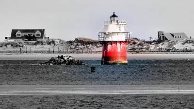 Duxbury Pier Light Print by Janice Drew