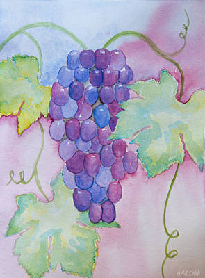 Grapevines Painting - D'vine Delight by Heidi Smith