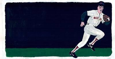 Baseball History Painting - Dwight Evans by Frank Morris