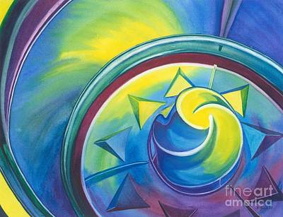 Color Swirl Print by Barbara Jewell
