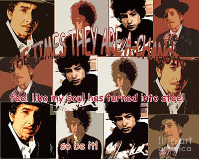 Bob Dylan Digital Art - Dylan by Patricia Januszkiewicz