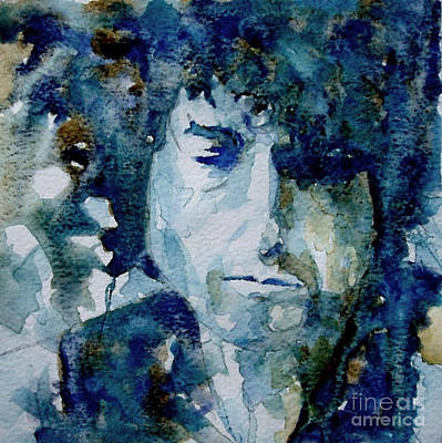 Watercolor Painting - Dylan by Paul Lovering