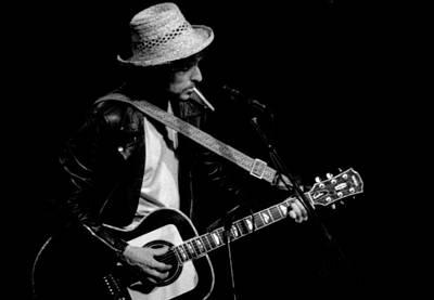 Bob Dylan Photograph - Dylan W Ciggie by Nancy Clendaniel