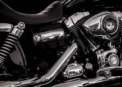 Harley Photograph - Dyna Super Glide Custom by Bob Orsillo