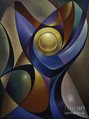 Glass Of Wine Painting - Dynamic Chalice by Ricardo Chavez-Mendez