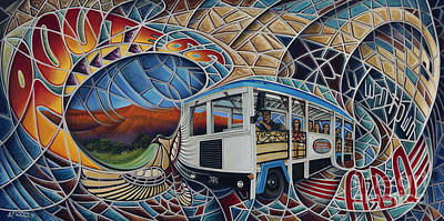 Multi Colored Painting - Dynamic Route 66 II by Ricardo Chavez-Mendez