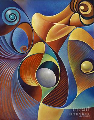 Moon Painting - Dynamic Series #22 by Ricardo Chavez-Mendez