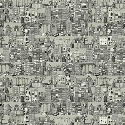 Dystopian Toile De Jouy Mono Print by Sharon Turner