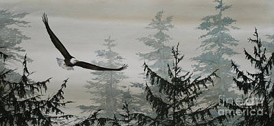 Eagle And Cedars Original by James Williamson