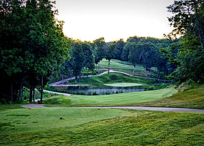 Eagle Knoll - Hole Fourteen From The Tees Print by Cricket Hackmann