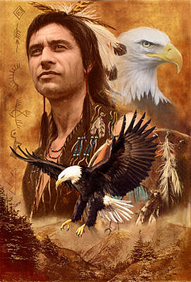 Native American Photograph - Eagle Montage by Garry Walton