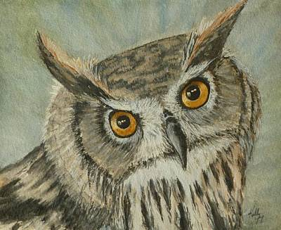 Eagle Painting - Eagle Owl by Kelly Mills