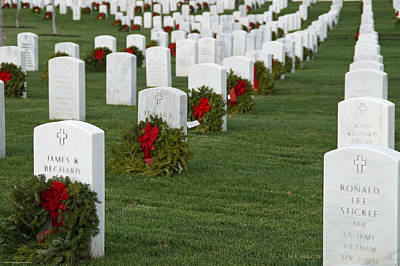 Eagle Point National Cemetery At Christmas Print by Mick Anderson