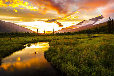Eagle River Valley Sunset Print by Kyle Lavey