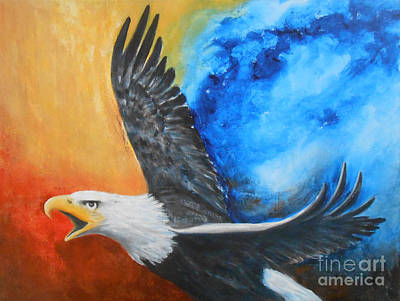Eagle Spirit - Arise And Assert Print by Jane  See