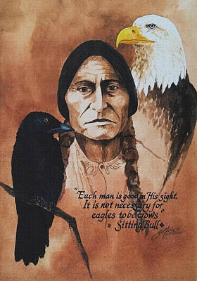 Painting - Eagles And Crows by John Guthrie