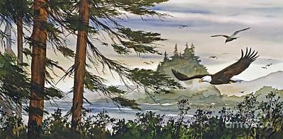 Eagles Majestic Flight Print by James Williamson