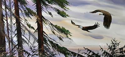 Eagles Romance Print by James Williamson