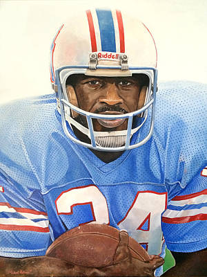 Earl Campbell Print by Michael  Pattison