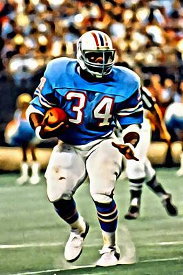 Campbell Painting - Earl Campbell by Florian Rodarte