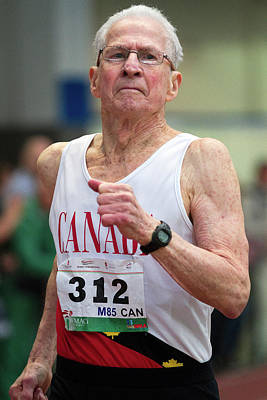 Canadian Sports Photograph - Earl Fee by Alex Rotas