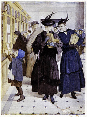 Early 20th Century German Post Office Print by Cci Archives