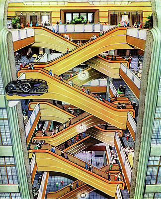 Early 20th Century Shop Escalator Print by Cci Archives