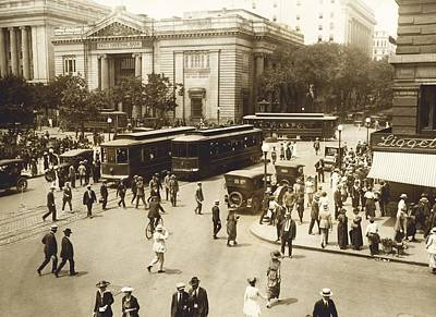 Washington Dc Street Scene Photograph - Early 20th Century Street Scene, Usa by Science Photo Library