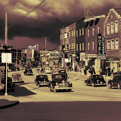 Early '50s Downtown Kl  Print by Mark Didine
