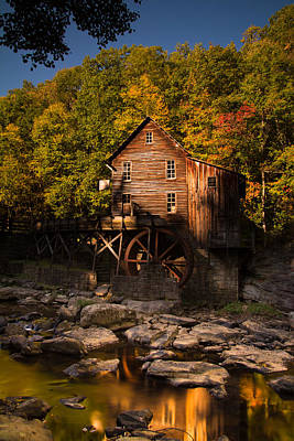Early Autumn At Glade Creek Grist Mill Print by Shane Holsclaw
