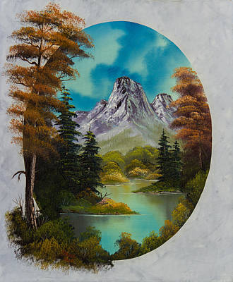 Sawtooth Mountain Art Painting - Russet Autumn  by C Steele