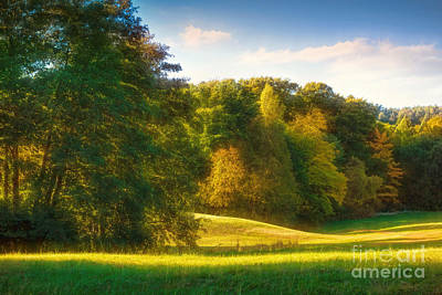 Autumn Landscape Photograph - Early Autumn Glow by Lutz Baar