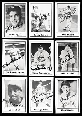 Early Baseball Legends Print by Daniel Hagerman