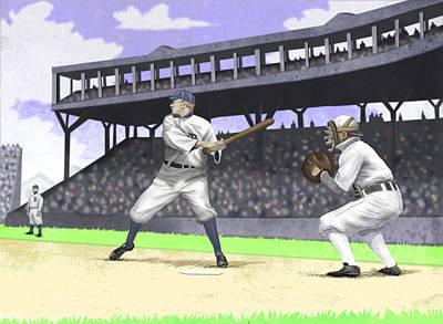 Early Baseball Print by Steve Dininno