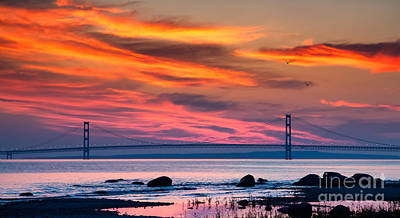 Mackinac Photograph - Early Bird Big Mac by Todd Bielby