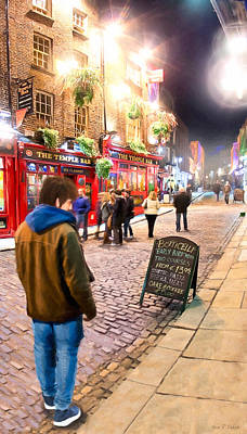 Early Bird Special In Dublin's Temple Bar Print by Mark E Tisdale