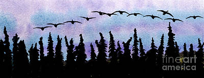 Early Birds Print by R Kyllo