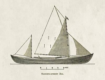 Early Canoe Sketch Print by Gary Bodnar