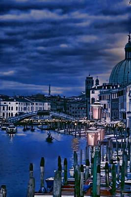 Venecia Photograph - Early Evening Venice by Tom Prendergast